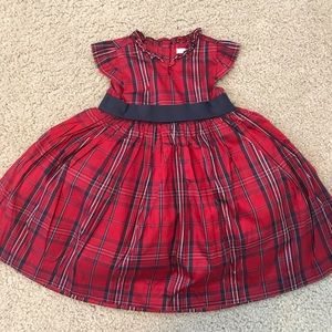 NWOT Janie & Jack 100% Silk Holiday Dress 18-24m